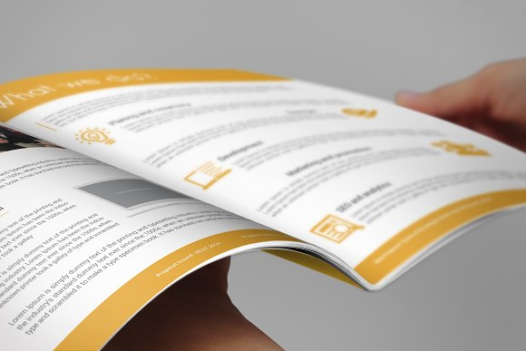 Professional Web Proposal Template in Stationery Templates - product preview 3