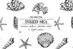 Inked Sea- Seamless Pattern