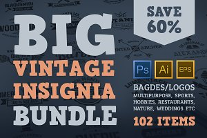 BIG Vintage Insignia Bundle 60% off