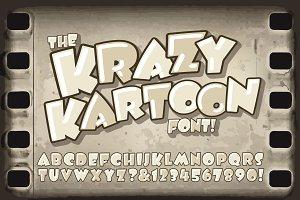 Krazy Kartoon Display Alphabet