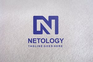 N Letter / Netology Logo Template