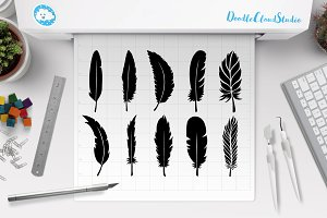 Feather SVG, Feathers  Bundle SVG