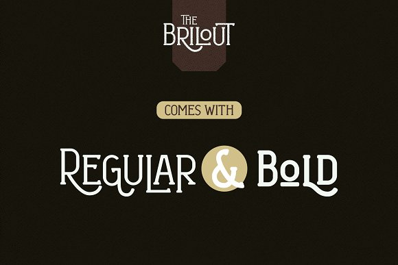 Brilout Display Font in Display Fonts - product preview 2