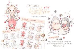 Kids Cute Card Designs