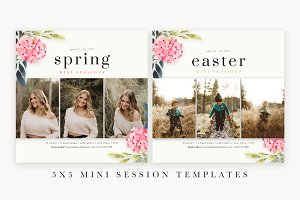Spring Mini Session Template - 5x5