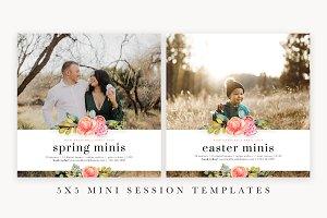 5x5 Spring Mini Session Template