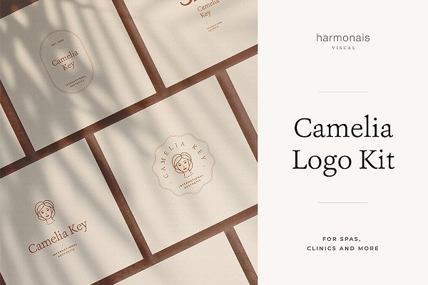 Logo Templates: Harmonais Visual - Camelia - Logo Kit