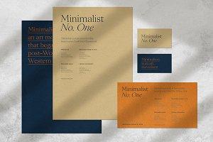 Minimalist No.1 - Mockup Kit