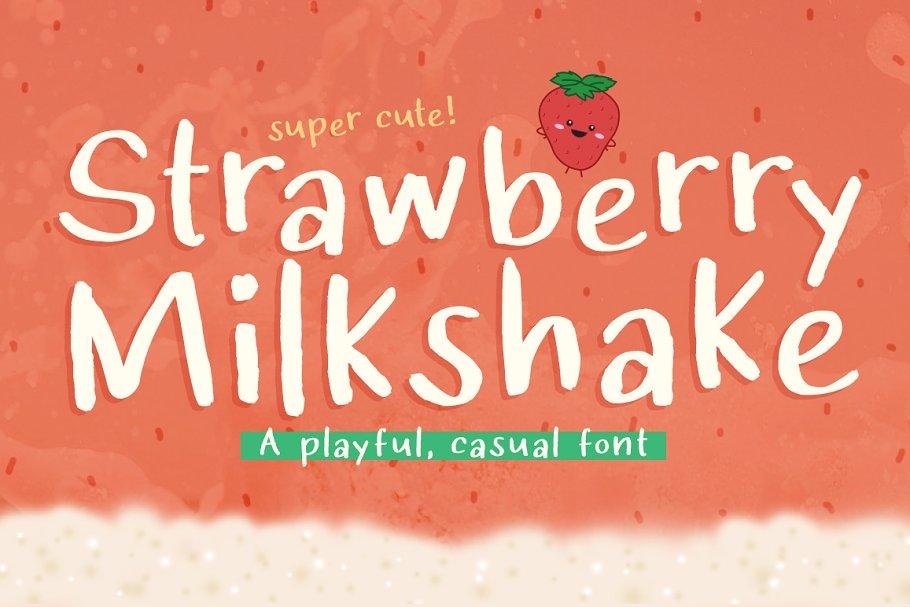 Strawberry Milkshake Font ~ Sans Serif Fonts ~ Creative Market