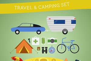 Flat Travel Equipment Set