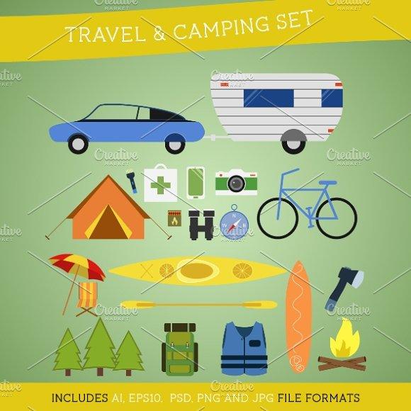 Flat Travel Equipment Set