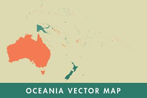 Oceania Vector Map
