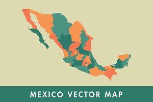 Mexico Vector Map