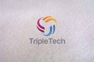 Triple Circle Corporate Logo Tech