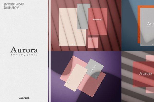 Product Mockups: ᴄ ᴀ ᴠ ɪ s ᴜ ᴀ ʟ . - Aurora - (Mockup Kit) Scene Creator