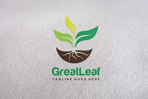 GreatLeaf / Eco design Logo Template