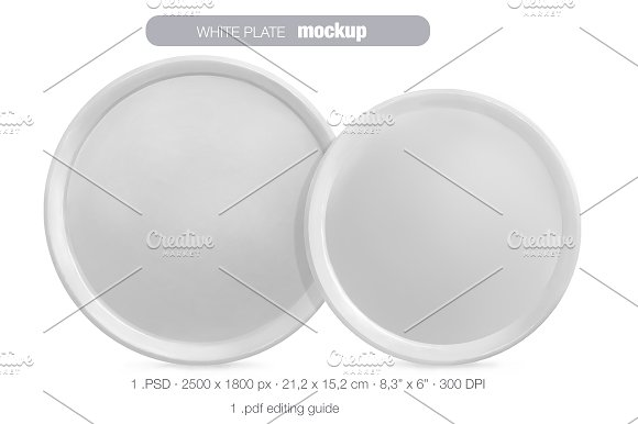 Download White plate MOCK UP