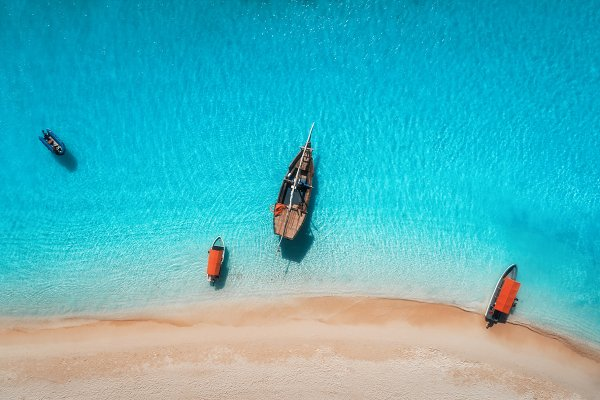 Stock Photos - Aerial view of the fishing boats