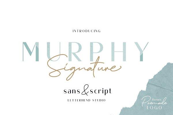 Fonts - Murphy - Script & Sans (+BONUS)