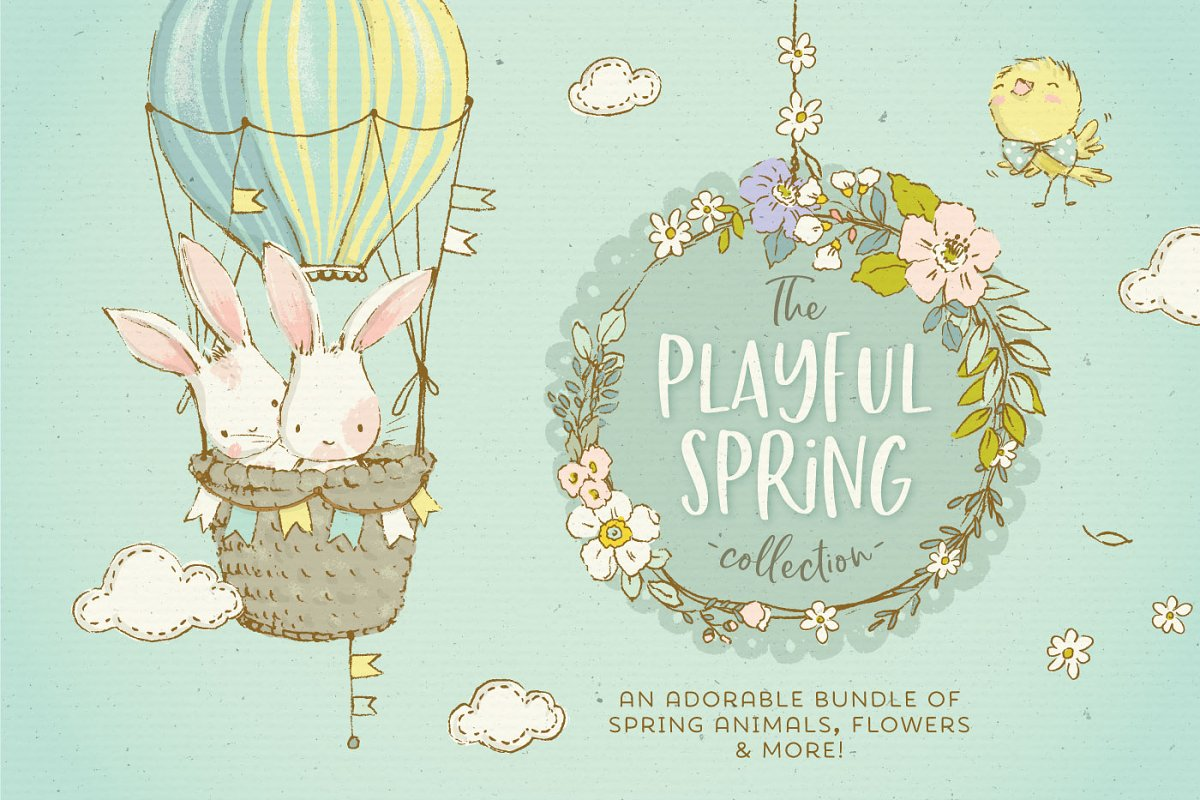 Spring Animals, Flowers & Patterns