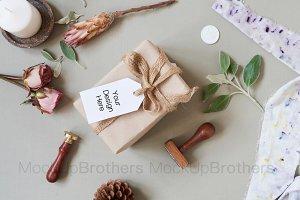 Gift tag mockup, Wedding favor tag