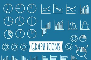 40+ Diagram and Graphs Icons