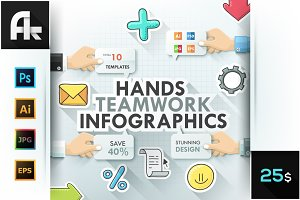Hands Teamwork Infographics