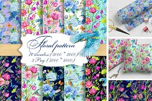 Flower patterns with Kingfisher