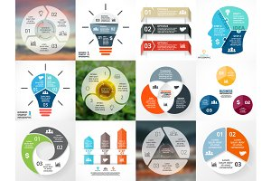3 Steps Infographics Set