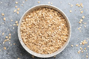 Rolled oats, healthy food
