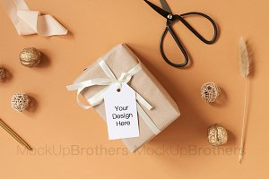 Tag mockup mock up gift card wedding
