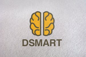 DSMART / Brain Ideas Logo Template