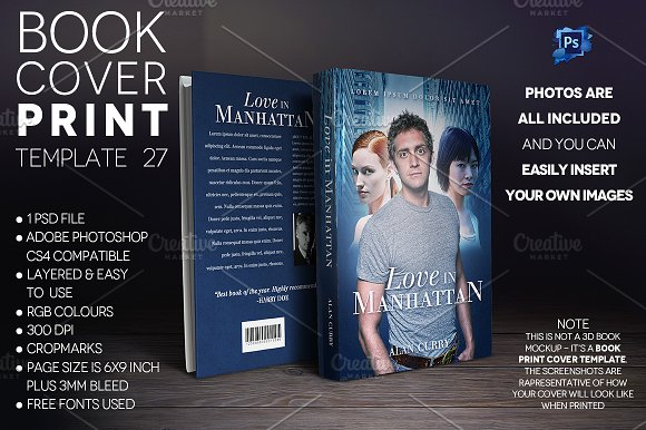 Book Cover PRINT Template 27