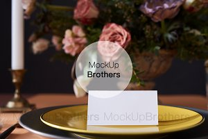 Place card mockup for wedding design