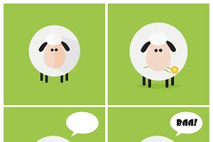 Flat Design Sheep Collection - 1
