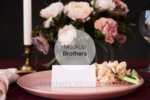 Name holder mockup for wedding