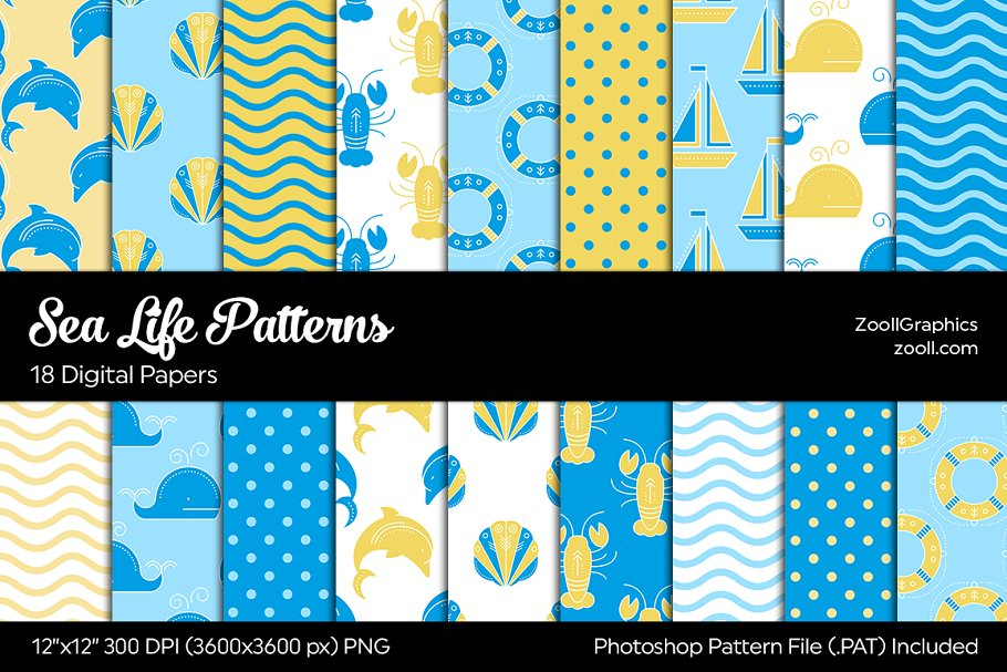 Sea Life Digital Papers