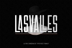 Las Valles Ultra Condensed Typeface