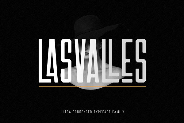 Fonts: NEWFLIX.Bro - Las Valles Ultra Condensed Typeface