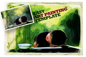 Easy Art Painting Template