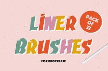 LINER BRUSHES FOR PROCREATE by  in Add-Ons
