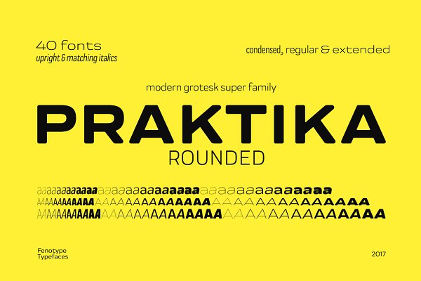 Fonts: Fenotype - Praktika Rounded