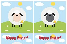 Flat Design Sheep Collection - 5
