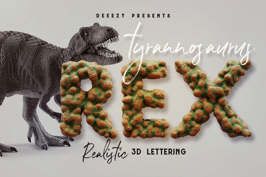Dino Rex – 3D Lettering
