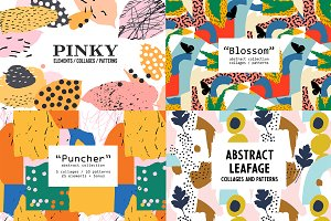 Abstract Collages/Patterns Bundle