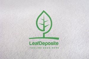 leaf deposite Logo Template