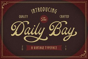 Daily Bay Font Duo + Extras!