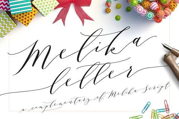 Melika Letter, Updated! Disc. 50% ~ Script Fonts ~ Creative Market