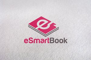 eSmartBook / learning logo template