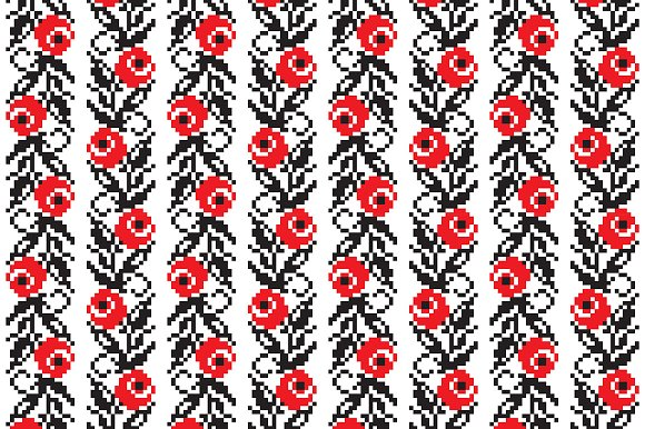 Ukrainian Ethnic Seamless Patterns in Patterns - product preview 3